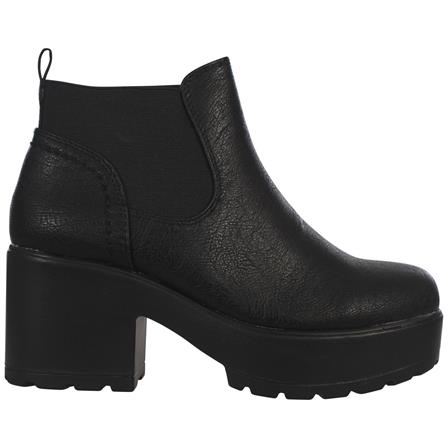 C/S-21 GIRLS KIDS CHILDREN CHUNKY SOLE ANKLE SCHOOL CASUAL CHELSEA BOOTS IN BLACK PU