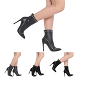 NEW WOMENS LADIES STILETTO HIGH HEELS STUDDED ANKLE BOOTS SHOES SIZE 3-8