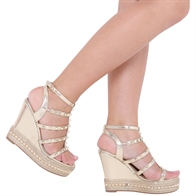 FASHION WEDGE SANDALS ANKLE STRAP PLATFORM HIGH HEELS