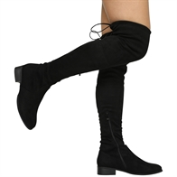 JOE LADIES THIGH HIGH LOW HEEL OVER THE KNEE STRETCH BOOTS
